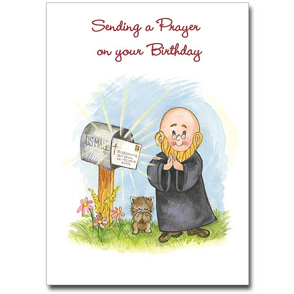 Sending a prayer on your birthday birthday card birthday card m4hsunfo