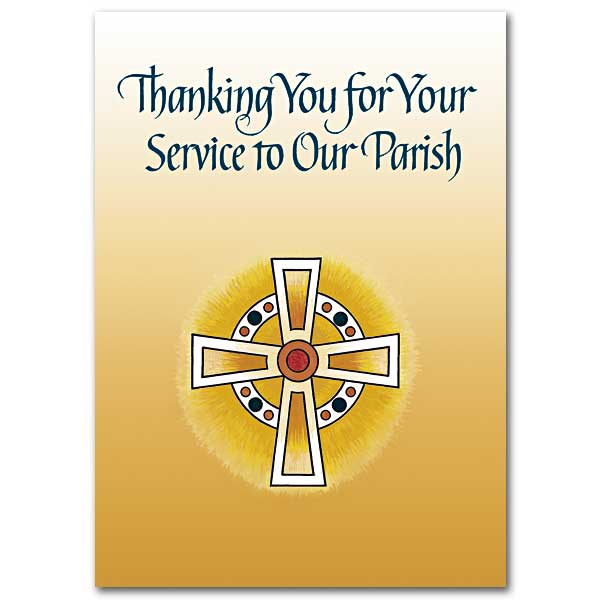 Thanking you for your service to our parish priest appreciation card click here for larger picture m4hsunfo