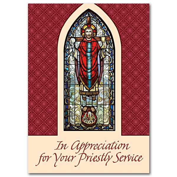 Thanking you for your service to our parish priest appreciation card in appreciation for your priestly service yadclub Gallery
