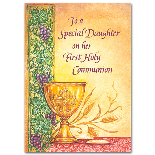 To A Special Daughter On Her First Holy Communion First