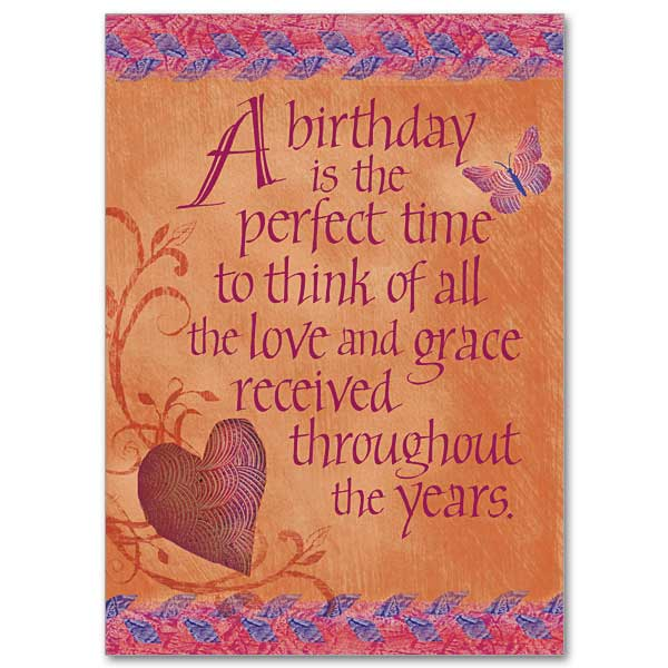 Perfect Time Birthday Birthday Card – Christian Birthday Card Messages