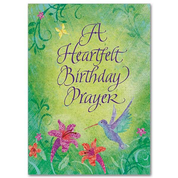 Heartfelt Birthday Prayer Birthday Card