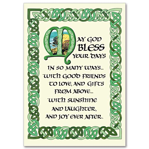 May God Bless Your Days: Irish Blessing Card