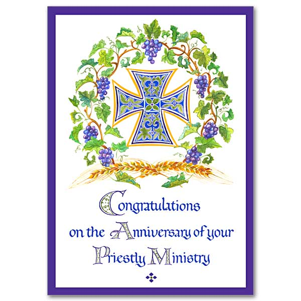 anniversary cards for priestly ordination