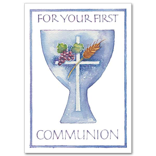 Enterprising image pertaining to first communion cards printable
