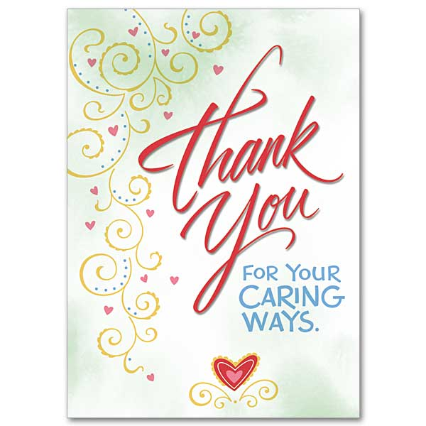 Thank you for your caring ways thank you card thank you for your caring ways m4hsunfo
