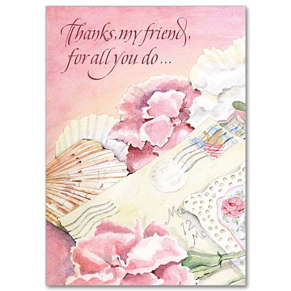 Thanks my friend for all you do Thank You Friendship Card – Thank You Note to Friend