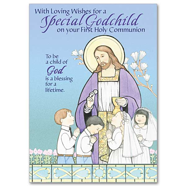 With Loving Wishes For A Special Godchild First Communion Godchild