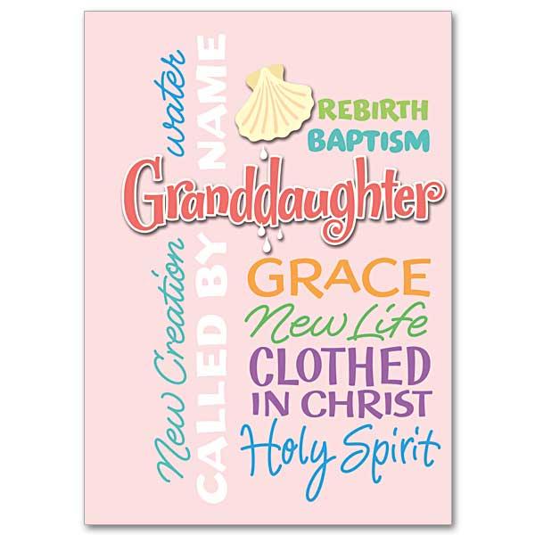 granddaughter baptism baptism card granddaughter