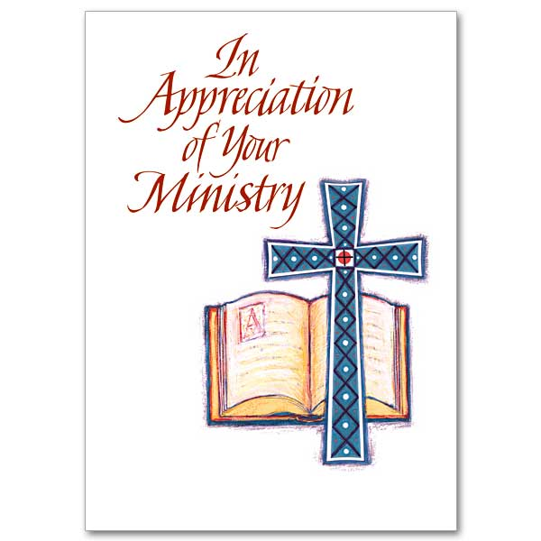 Priest ministry appreciation cards buy christian greeting card in appreciation of your ministry m4hsunfo