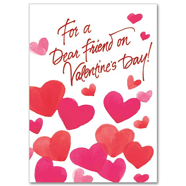 For a Dear Friend on Valentines Day Valentines Day Card – Saint Valentine Card