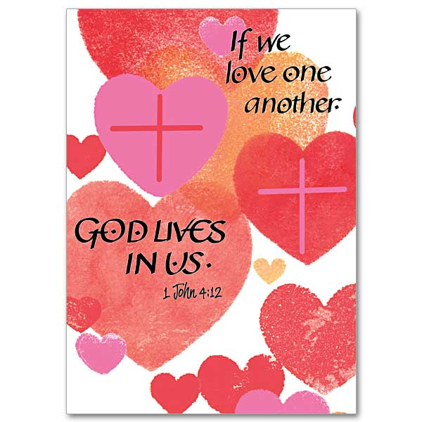If We Love One Another Valentines Day Card – Christian Valentines Day Cards