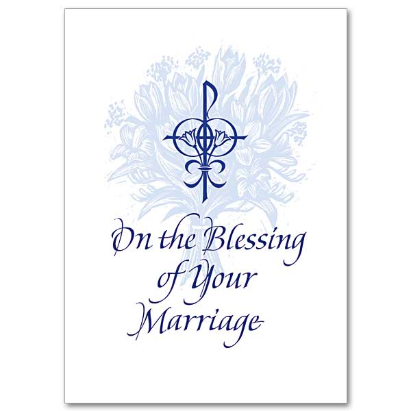 On The Blessing Of Your Marriage Blessing Of Marriage Card
