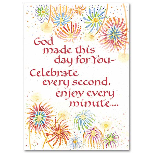 Christian birthday cards buy religious birthday card assortment god made this day for you m4hsunfo