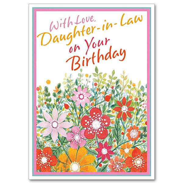 With Love DaughterinLaw on Your Birthday Daughter in Law – Happy Birthday Daughter in Law Cards