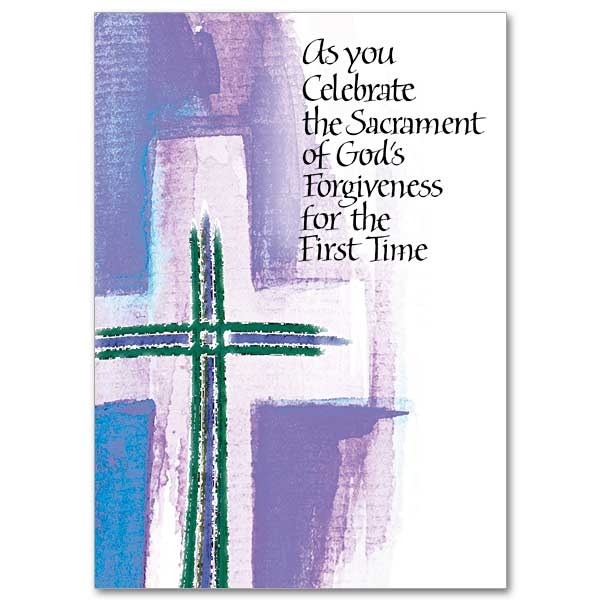 As you celebrate the sacrament of gods forgiveness first as you celebrate the sacrament of gods forgiveness first reconciliation card m4hsunfo