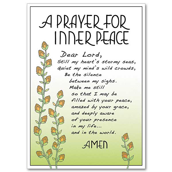 A Prayer for Inner Peace: Praying for You Card-Difficult Times