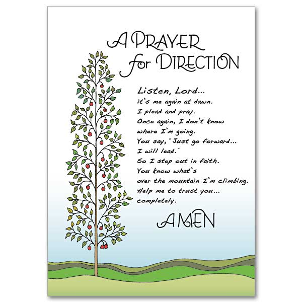 A Prayer For Direction Praying For You Encouragement Card