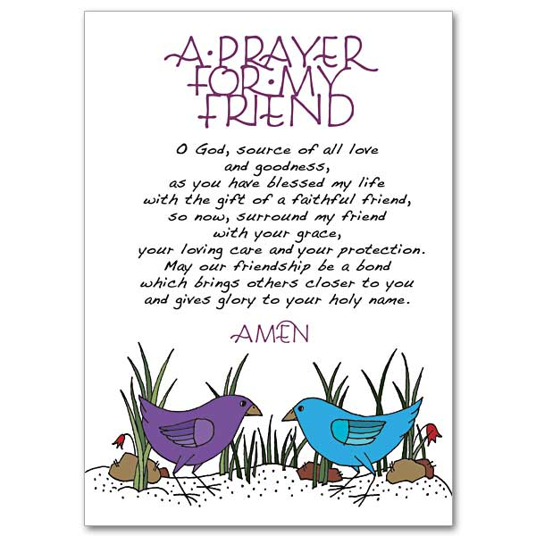 A prayer for my friend praying for you card friendship altavistaventures