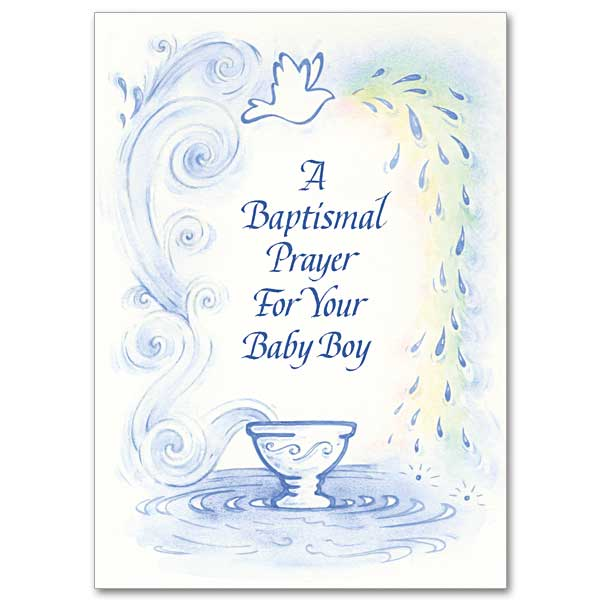 a baptismal prayer for your baby boy baptism card for boy