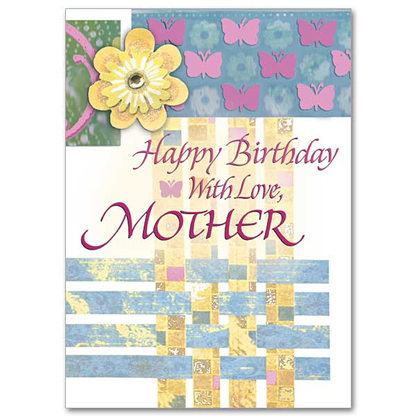 Happy Birthday With Love Mother Birthday Card for Mother – Mother Birthday Card