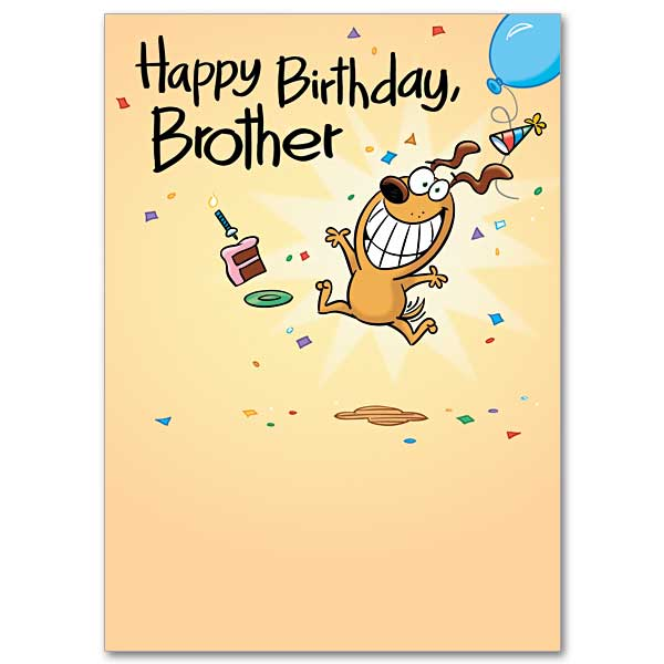 A Brother Like No Other: Humorous Birthday Card