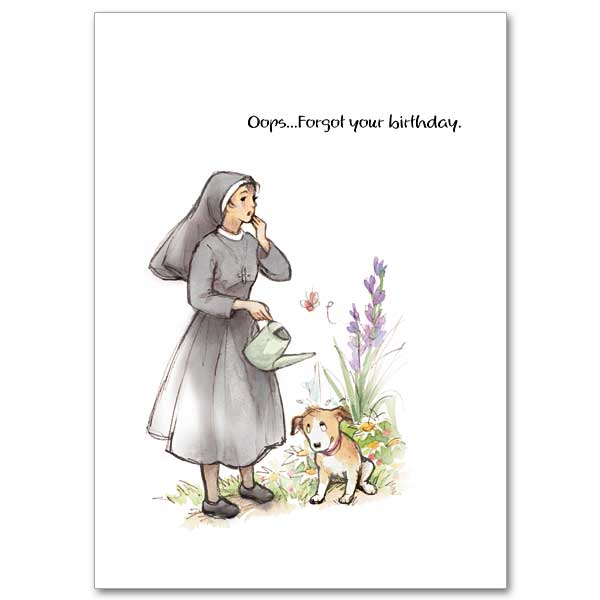 Oops Forgot Your Birthday Humorous Belated Card