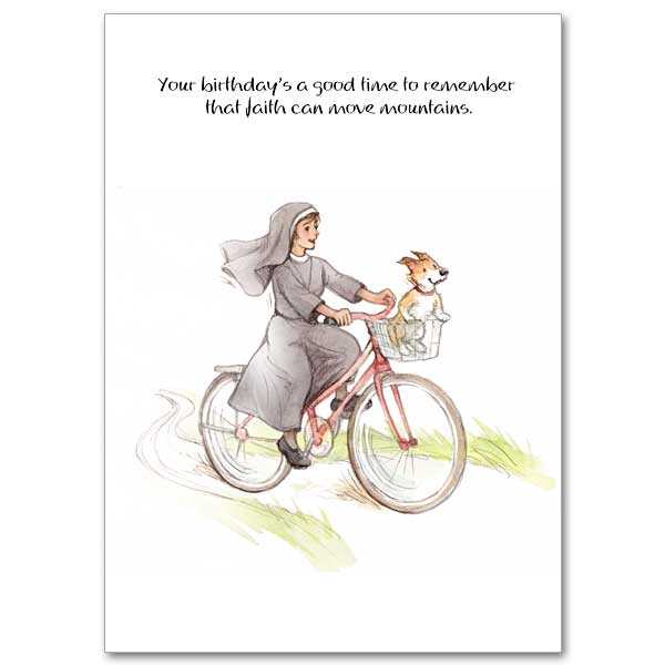 Faith Can Move Mountains Humorous Birthday Card – Humerous Birthday Cards