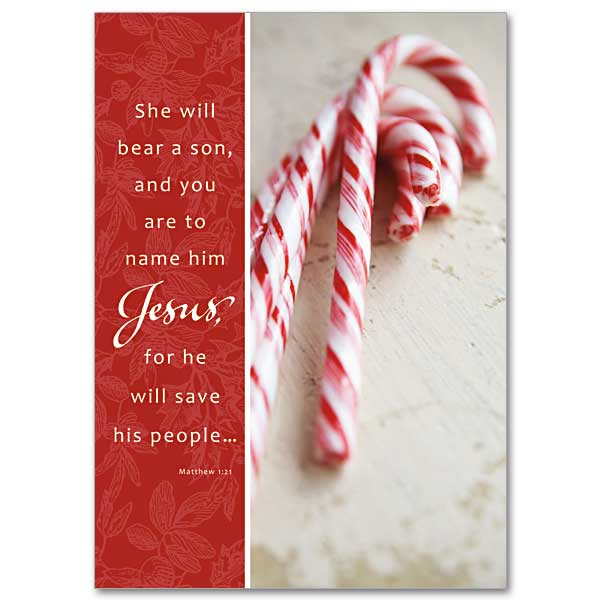 Legend Of The Candy Cane Miracle Christmas Card