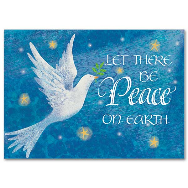 Dove with Peace: Miracle of Christmas Card