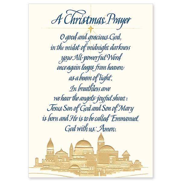 Christmas Prayer.A Christmas Prayer Miracle Christmas Card