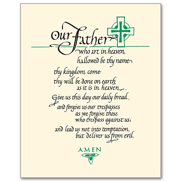 graphic about Printable Lords Prayer named The Lords Prayer: Print