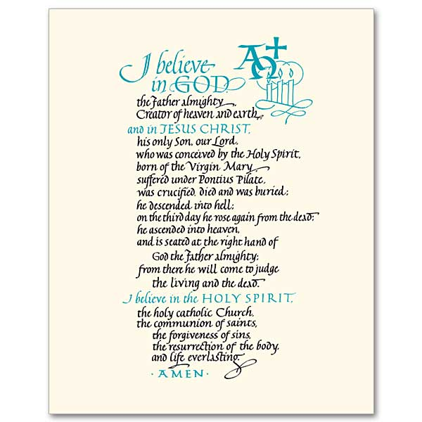 It's just a picture of Inventive Printable Apostles Creed