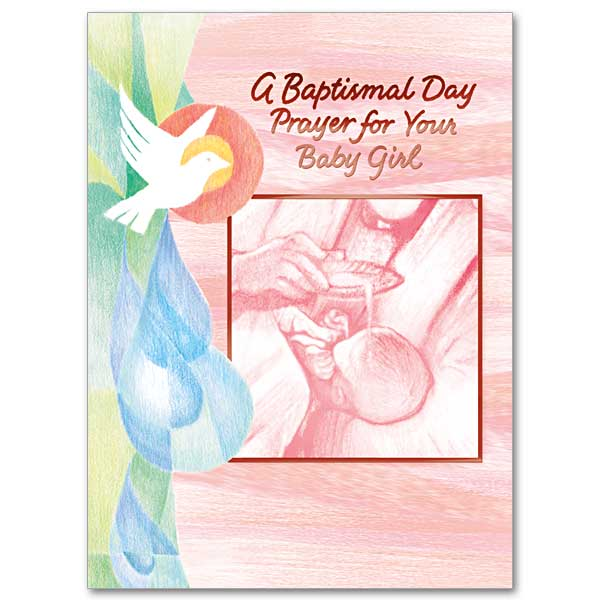 A Baptismal Day Prayer For Your Baby Girl Baptism Card