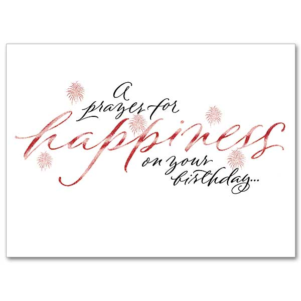 A Prayer For Happiness On Your Birthday Birthday Card With Foil