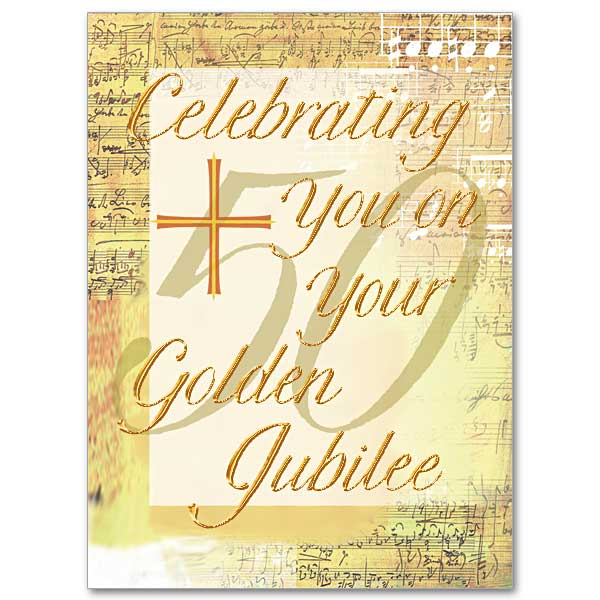 Celebrating you on your golden jubilee priest or religious 50th priest or religious 50th anniversary card click here for larger picture stopboris Choice Image