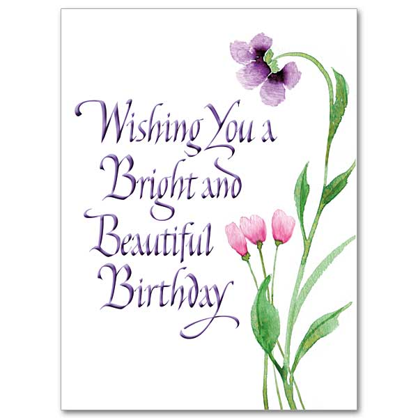 Wishing You a Bright and Beautiful Birthday Birthday Card – A Beautiful Birthday Card