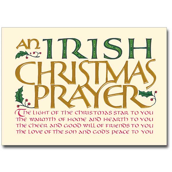 An Irish Christmas Prayer: Splendor Irish Christmas Card
