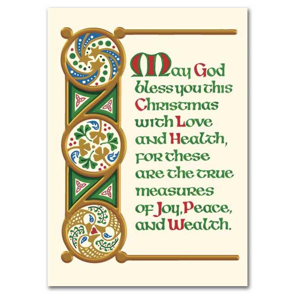 May God Bless You This Christmas: Irish Christmas Cards