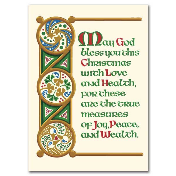 Merry Christmas In Irish.May God Bless You This Christmas Irish Christmas Cards