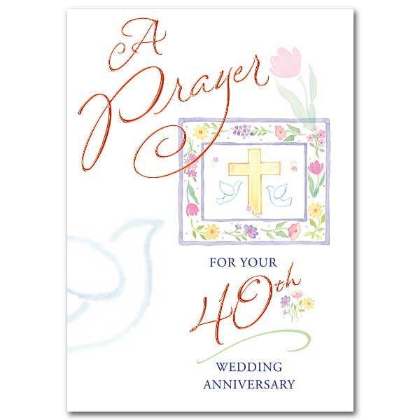 A prayer for your 40th wedding anniversary 40th wedding anniversary 40th wedding anniversary card stopboris Gallery