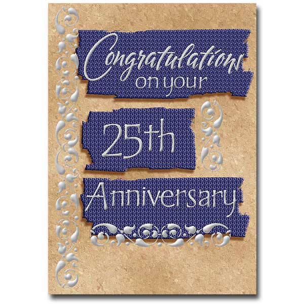 Congratulations on your 25th anniversary general 25th anniversary card congratulations on your 25th anniversary general 25th anniversary card m4hsunfo