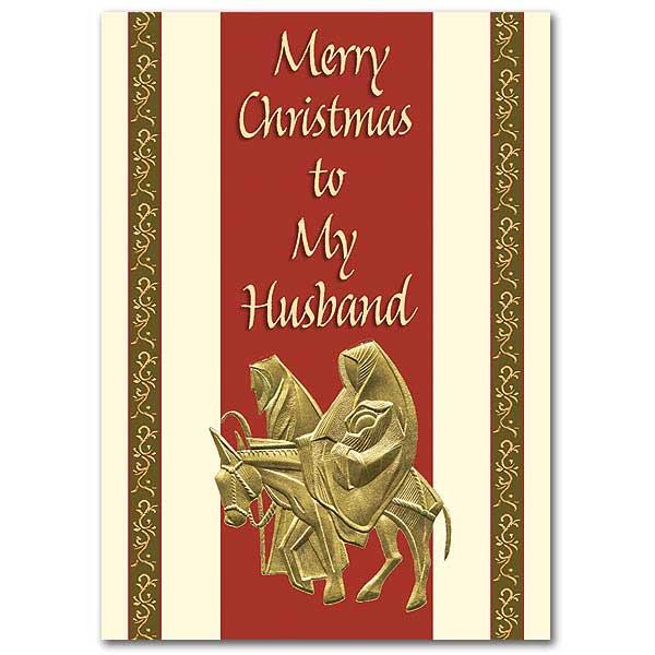 merry christmas to my husband christmas card - Merry Christmas Husband