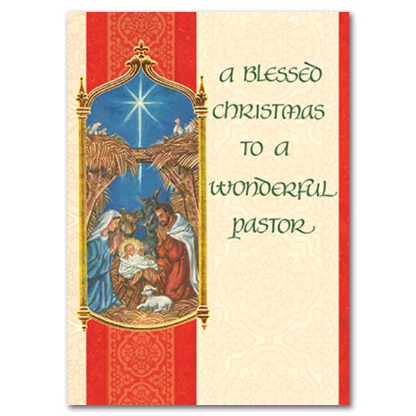 A blessed christmas to a wonderful pastor christmas card christmas card m4hsunfo