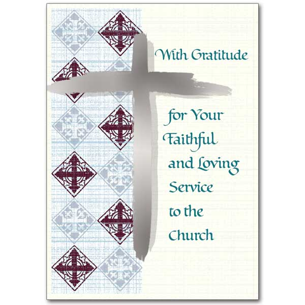 Thanking you for your service to our parish priest appreciation card with gratitude for your faithful and loving service yadclub Gallery