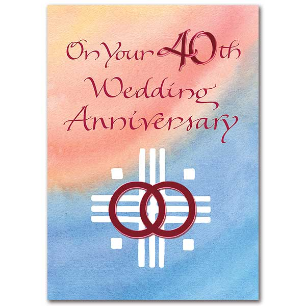 On your th wedding anniversary