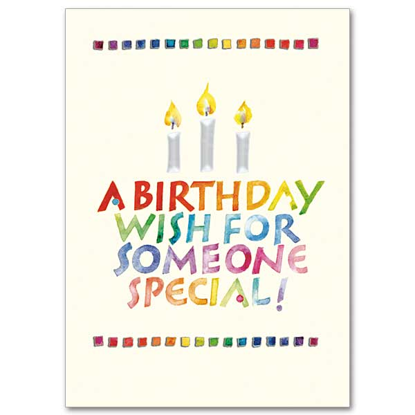 Special Birthday Wish Birthday Card