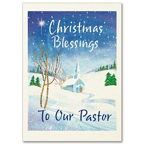 Christmas Blessings to Our Pastor: Christmas Card for Pastor