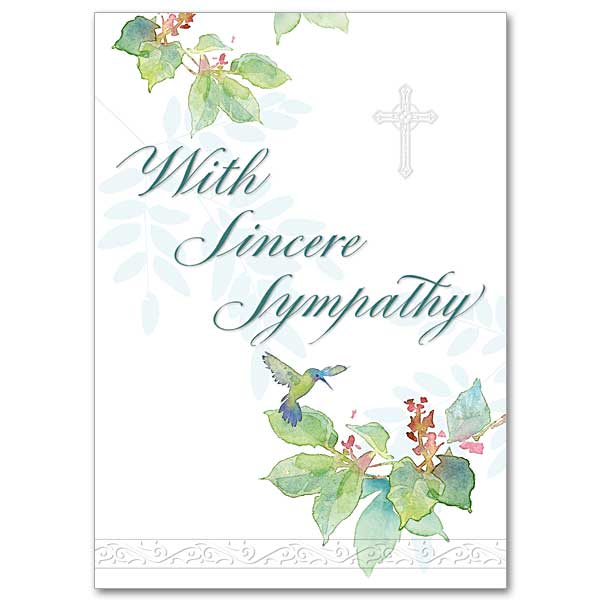 With Sincere Sympathy: Sympathy Card