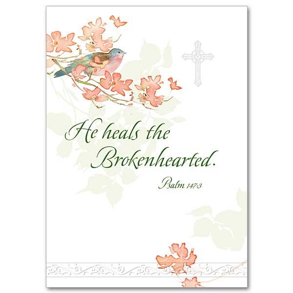 He heals the brokenhearted sympathy card he heals the brokenhearted sympathy card m4hsunfo